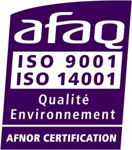 nouveau logo 9001 14001 violet